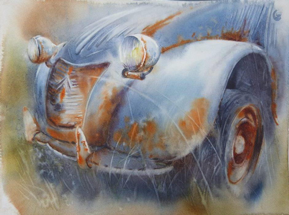 la rouille en aquarelle
